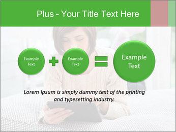 Woman using tablet pc PowerPoint Templates - Slide 75