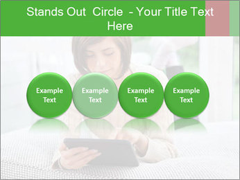 Woman using tablet pc PowerPoint Template - Slide 76