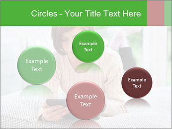 Woman using tablet pc PowerPoint Template - Slide 77