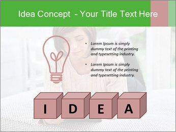 Woman using tablet pc PowerPoint Template - Slide 80