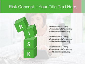 Woman using tablet pc PowerPoint Template - Slide 81