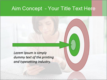 Woman using tablet pc PowerPoint Template - Slide 83