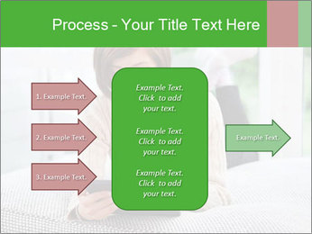 Woman using tablet pc PowerPoint Templates - Slide 85