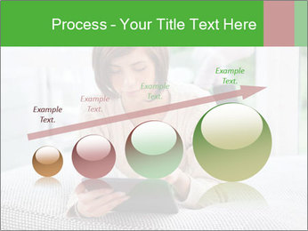 Woman using tablet pc PowerPoint Template - Slide 87