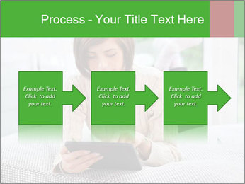 Woman using tablet pc PowerPoint Template - Slide 88