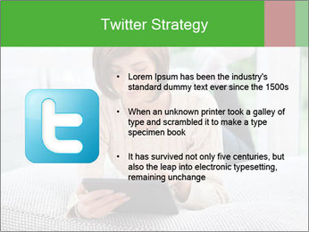 Woman using tablet pc PowerPoint Template - Slide 9