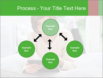 Woman using tablet pc PowerPoint Template - Slide 91
