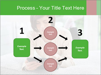 Woman using tablet pc PowerPoint Templates - Slide 92