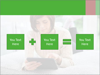 Woman using tablet pc PowerPoint Template - Slide 95
