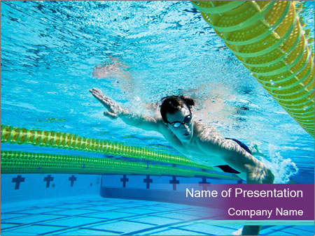 Swimmer PowerPoint Template
