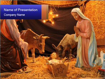 France nativity scene PowerPoint Templates - Slide 1