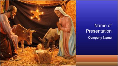 france nativity scene powerpoint template backgrounds google
