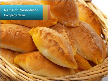 Basket full of pasties PowerPoint Template