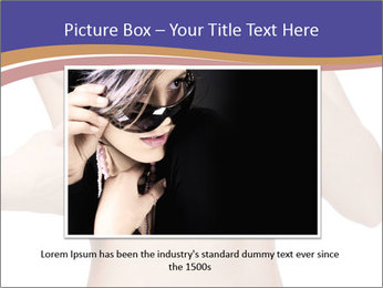 Female controlling breast PowerPoint Template - Slide 16