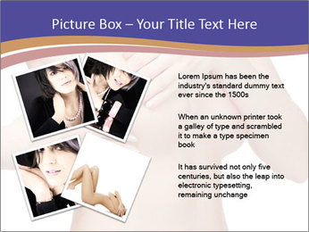 Female controlling breast PowerPoint Template - Slide 23
