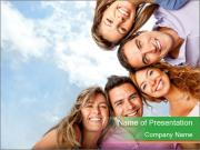 Friends smiling PowerPoint Templates