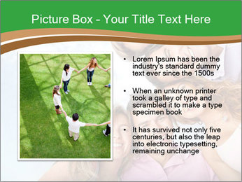 Friends smiling PowerPoint Template - Slide 13
