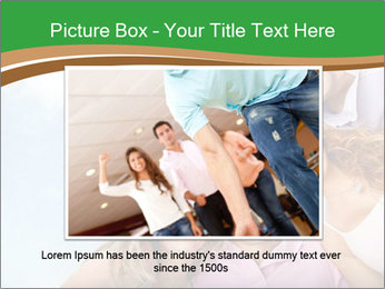 Friends smiling PowerPoint Template - Slide 15