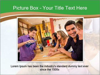 Friends smiling PowerPoint Template - Slide 16