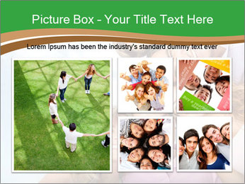 Friends smiling PowerPoint Template - Slide 19