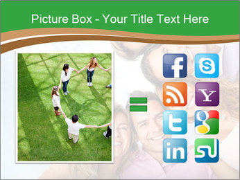 Friends smiling PowerPoint Template - Slide 21