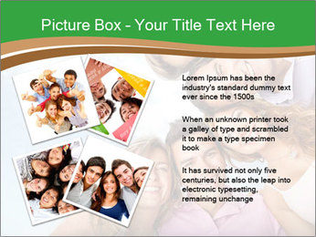 Friends smiling PowerPoint Template - Slide 23