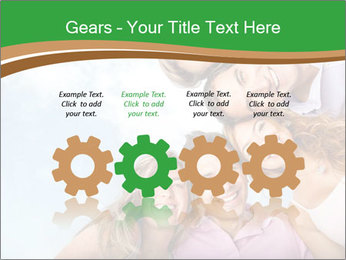 Friends smiling PowerPoint Template - Slide 48