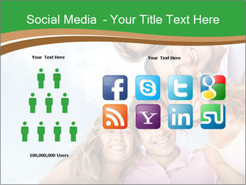 Friends smiling PowerPoint Template - Slide 5