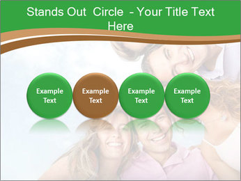 Friends smiling PowerPoint Template - Slide 76