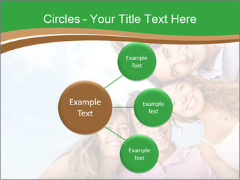 Friends smiling PowerPoint Template - Slide 79