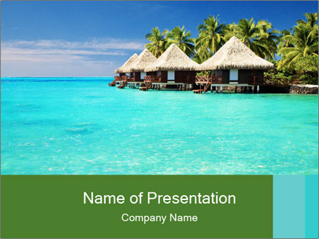 Over water PowerPoint Templates
