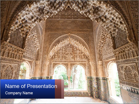 Patio of the lions room PowerPoint Templates