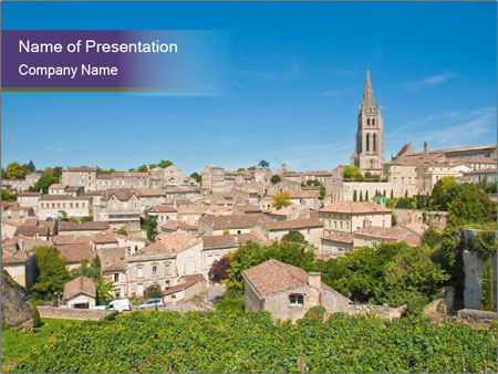 Central Saint-Emilion PowerPoint Template
