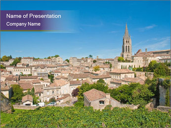 Central Saint-Emilion PowerPoint Template - Slide 1