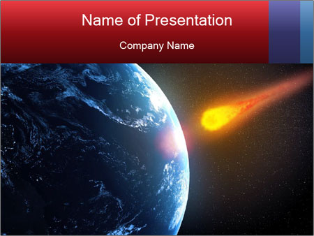 Asteroid falling PowerPoint Template