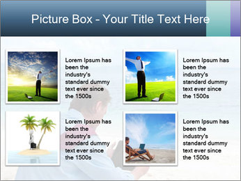 Business man sitting PowerPoint Templates - Slide 14