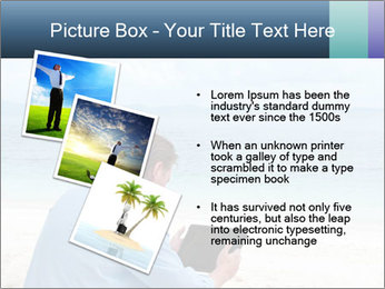 Business man sitting PowerPoint Templates - Slide 17