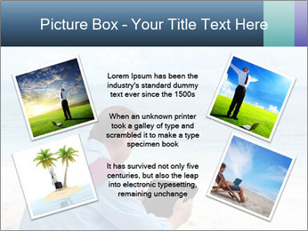 Business man sitting PowerPoint Templates - Slide 24