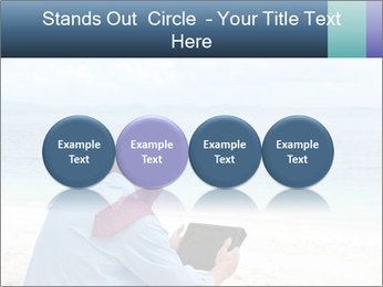 Business man sitting PowerPoint Templates - Slide 76