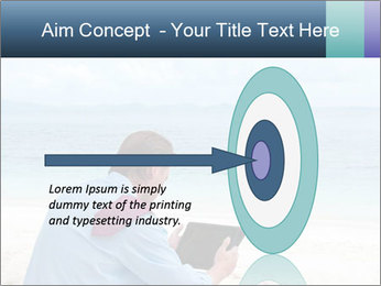 Business man sitting PowerPoint Templates - Slide 83