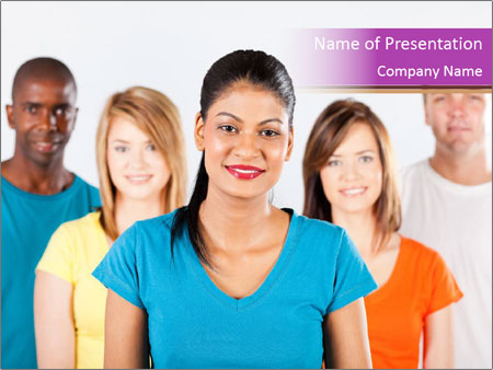 Multiracial people PowerPoint Template
