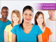 Multiracial people PowerPoint Templates
