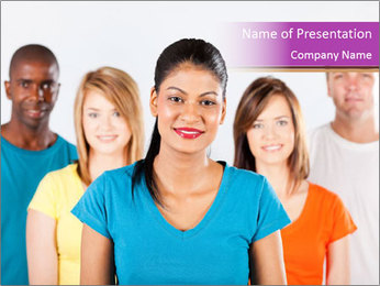 Multiracial people PowerPoint Template - Slide 1