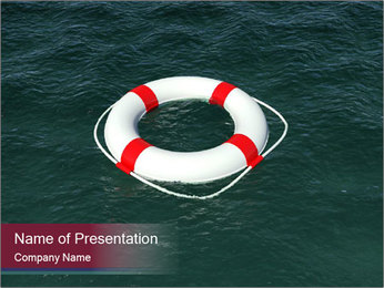 Lifebuoy PowerPoint Template - Slide 1