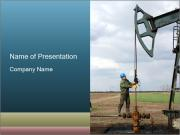 Oil worker PowerPoint Template