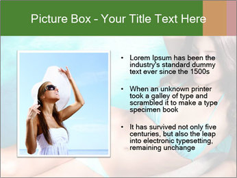 Beauty in blue bikini PowerPoint Template - Slide 13