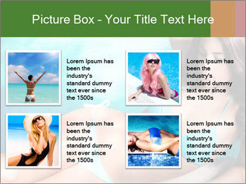 Beauty in blue bikini PowerPoint Template - Slide 14
