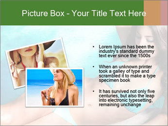 Beauty in blue bikini PowerPoint Template - Slide 20