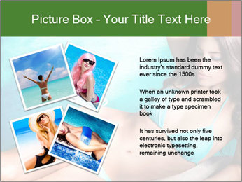 Beauty in blue bikini PowerPoint Template - Slide 23