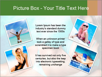 Beauty in blue bikini PowerPoint Template - Slide 24